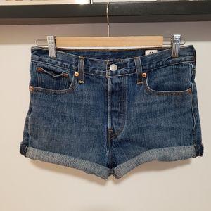3/$25 Levi's White Oak Cone Denim Cut-Off Shorts